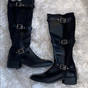 Cole Haan Riding Boots Leather and Suede Sz 8